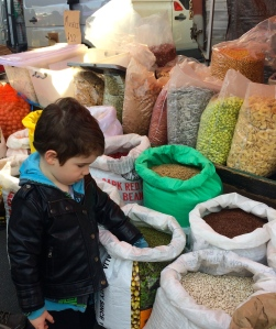 My 4 year old son Jimmy at the market